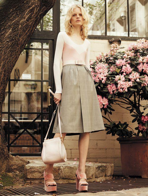 Sonia Rykiel Resort 2014 long sleeve skirt pink