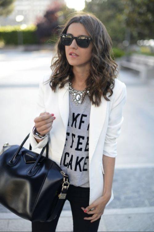 blazer e tshirt