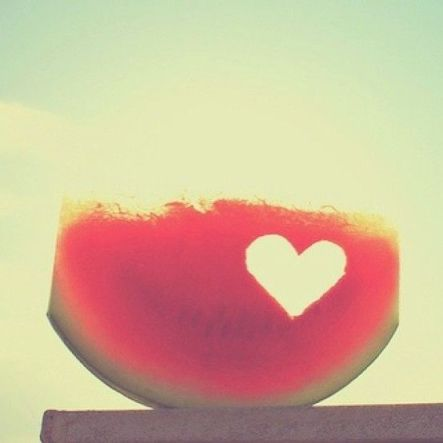 #lovely #summer #happy #watermelon #love #happiness #girls #romantic #inspiration