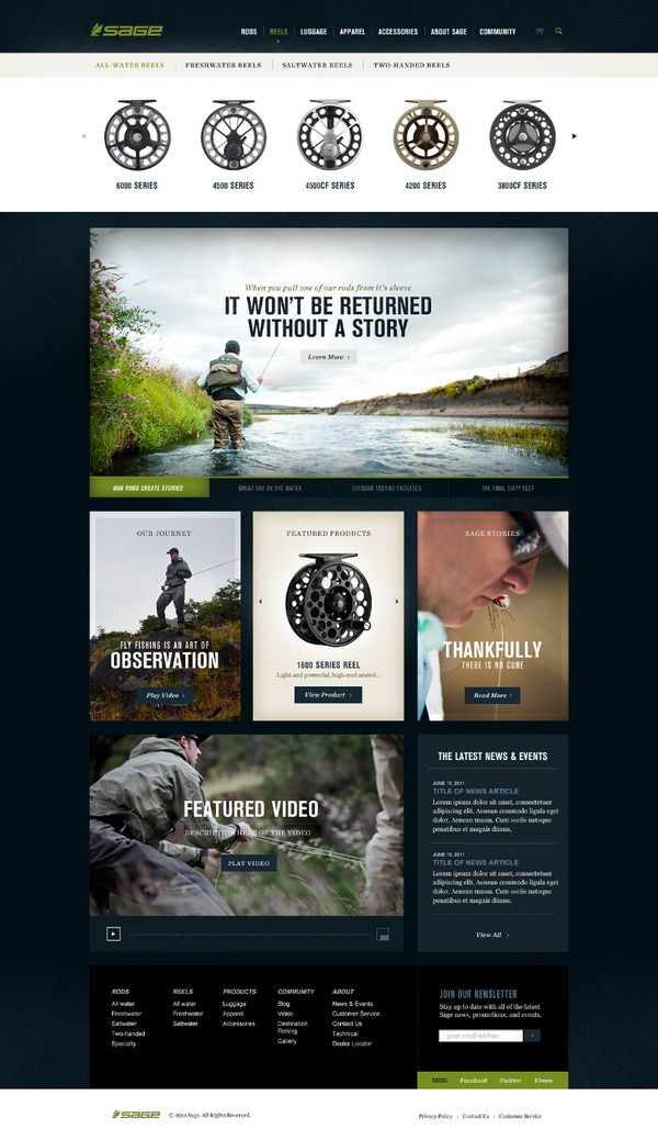 Sage Fly Fishing by Josh Ashton on Behance
