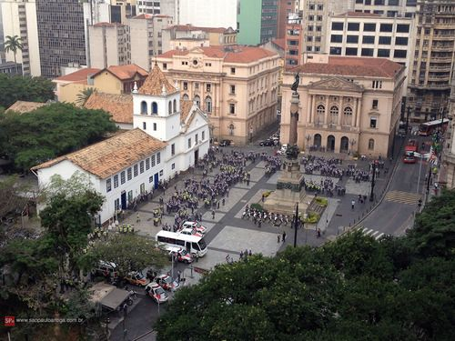 Police troops at Pateo do Collegio last june 20th. Sao Paulo - Brazil