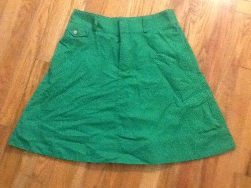 Ralph Lauren Kelly Green A Line Chino Skirt 6 | eBay