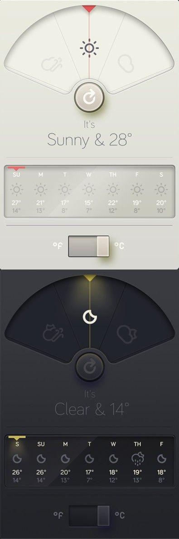 WeatherDial™ - A simpler, more beautiful weather app. #ui