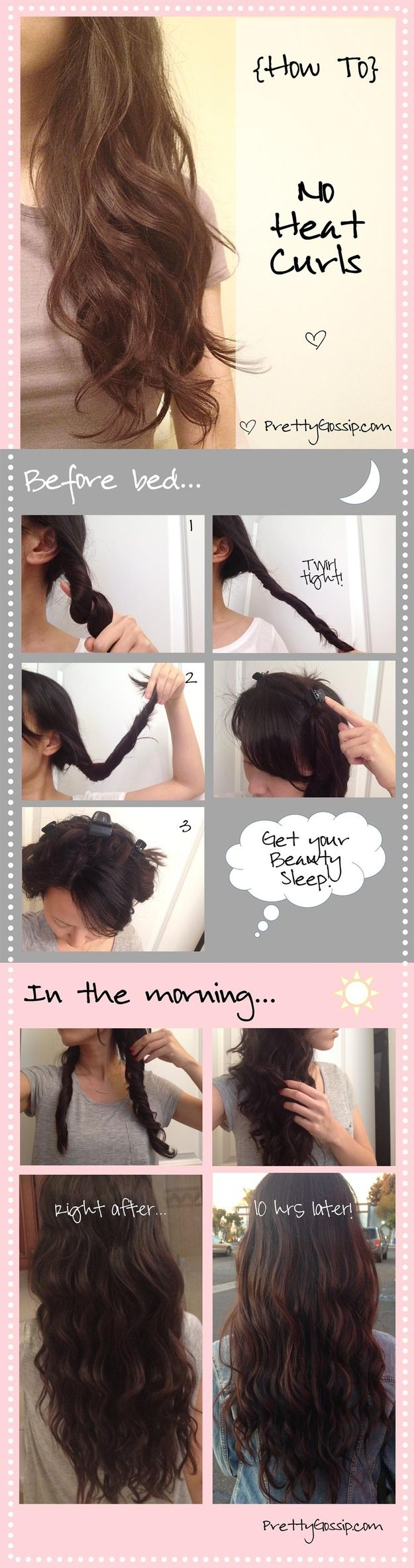 Or you can get these perfect spirals by doing a one-minute prep the night before.