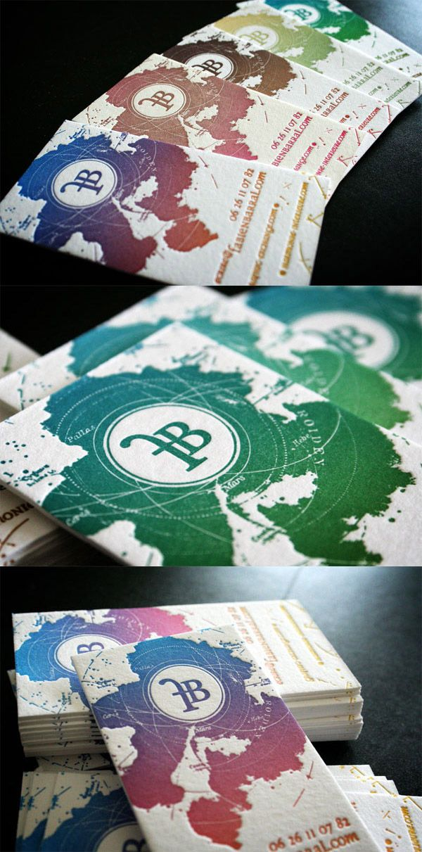 Fabien Barral Unique LetterPress Business Card