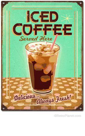 Ice Coffee Tin Sign