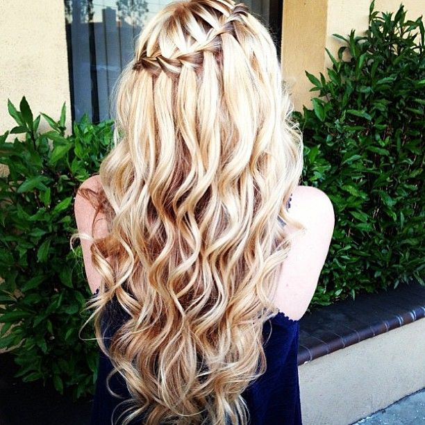 beatiful waterfall braided hair