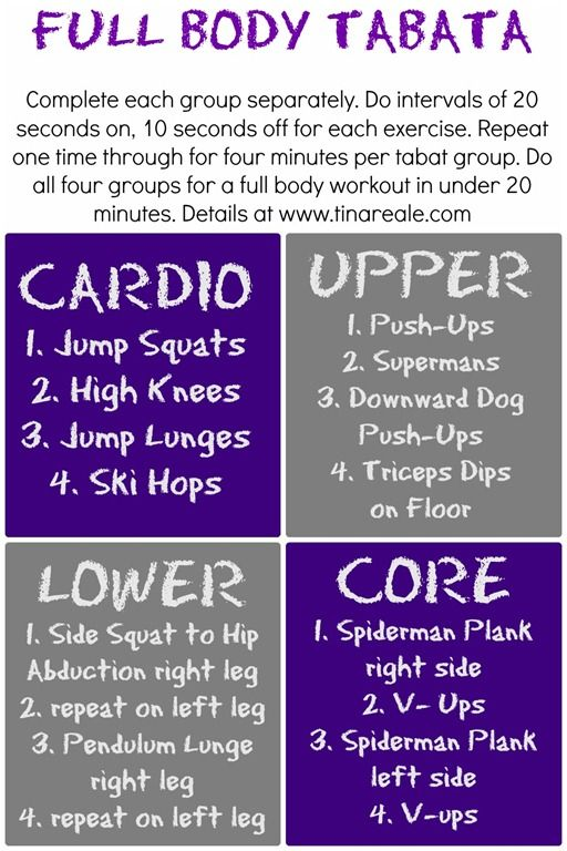 Full Body Tabata Workout Tina Reale