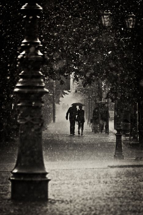 Long walks in the rain... ♥