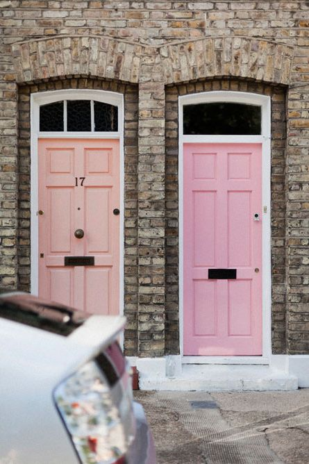 sherbert door colors with beautiful brick