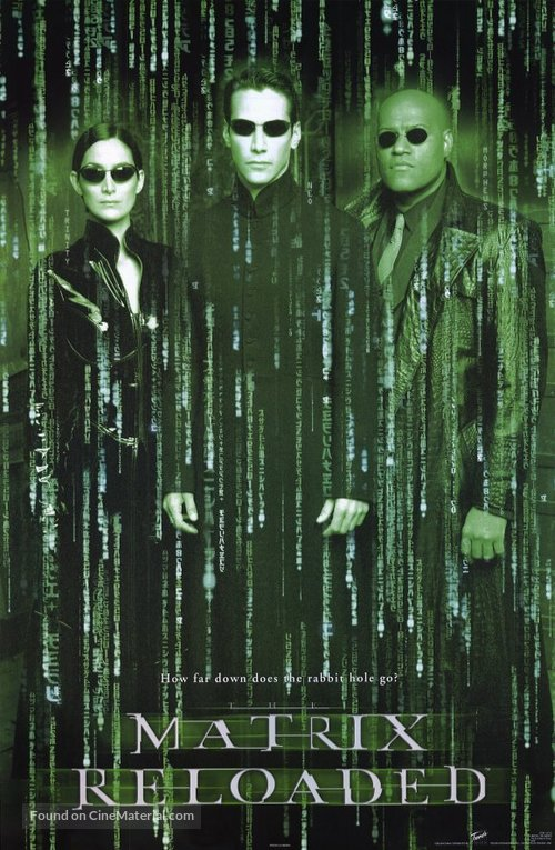 the matrix reloaded 2003 movie poster