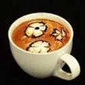 Foam art latte