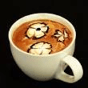 Foam art latte