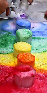 Frozen Rainbow Eruptions ~ Learn Play Imagine
