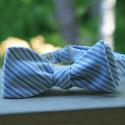 White (with blue diagonal stripes)