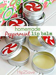 Homemade Peppermint Lip Balm (Holiday Gift Idea)