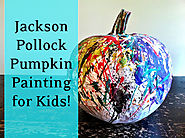 Famous Artists Inspired Christmas Ornaments and Greeting Card Ideas | Jackson Pollock Pumpkin Painting Art Project - Art History Mom