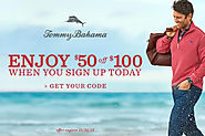 Tommy Bahama $50 off $100