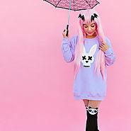 Cute DIY Pastel Goth Bunny Shirt