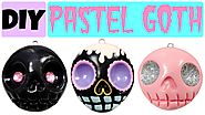 How to Make EASY Skull   Pastel Goth Polymer Clay Charms  
