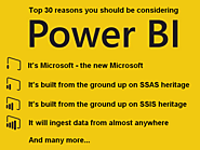 Power BI and SQL Server BI blog posts | The Top 30 Reasons You Should Be Considering Power BI - Excelerator BI