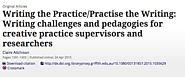 Writing the Practice/Practise the Writing: Writing challenges and pedagogies for creative practice supervisors and re...