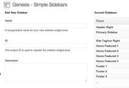 """WordPress › Genesis Simple Sidebars """" WordPress Plugins"""