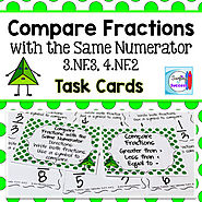 Compare Fractions with the Same Numerator by Mercedes Hutchens | TpT