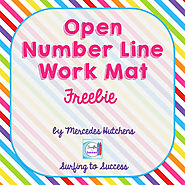 Open Number Line Template Free by Mercedes Hutchens | TpT