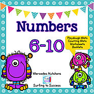 Numbers 6-10 Playdough Mat, Worksheets, Counting Mat, and More | TpT