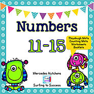 Numbers 11-15 Playdough Mat, Worksheets, Counting Mat, and More | TpT