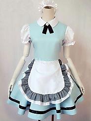Halloween Alice in Wonderland Maid Costumes With Ruffles Halloween - Milanoo.com