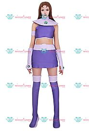 Superheroine Cosplay Costume Inspired by Starfire