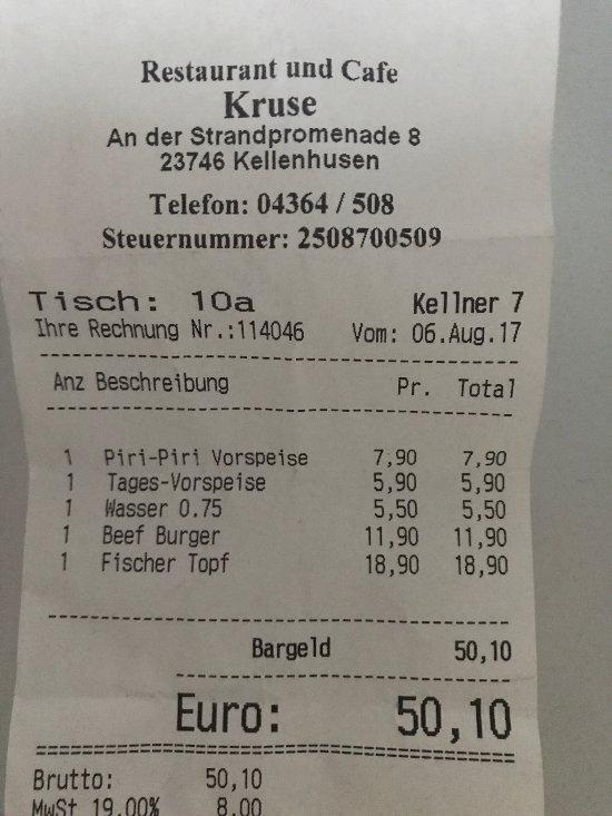 Restaurant Cafe Kruse Kellenhusen