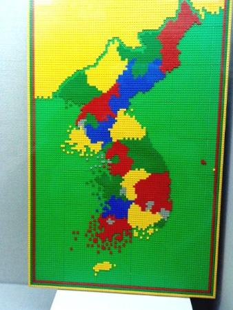 A map of Korea  drawn in Lego    Picture of Cheongju  Chungcheongbuk     Cheongju  South Korea  A map of Korea  drawn in Lego