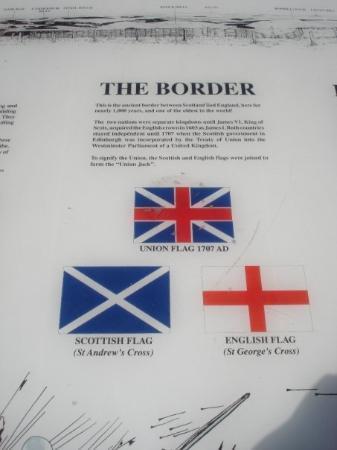 English Scottish Border In Carter Bay Near Northumberland