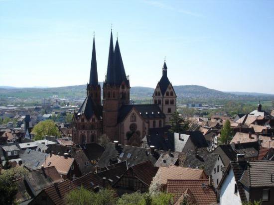 Gelnhausen's Church. Deutschland. Gelnhausen is the city of Barberousse near Frankfurt