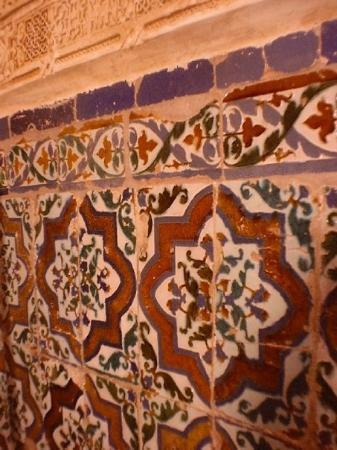typical spanish ceramic tiles picture
