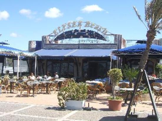 Restaurant Elysee Beach, Agadir, on the promenade