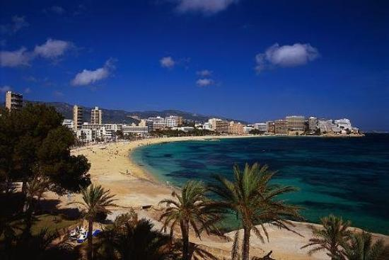 beach palma de mallorca spain bild