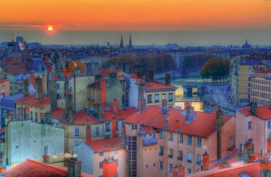 Coucher de soleil sur Lyon sur TripAdvisor.fr