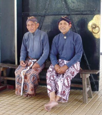 Kraton (Keraton): palace staff in traditional javanese attire
