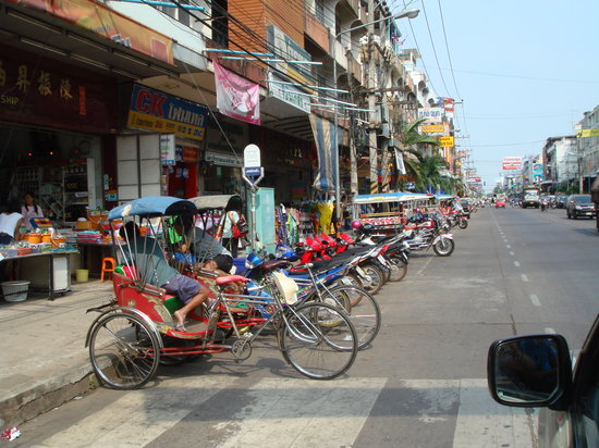 Tricycle taxi at downtown Udon Thani