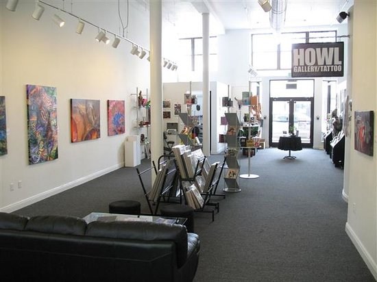 HOWL Gallery Tattoo Interior. By howlgallery