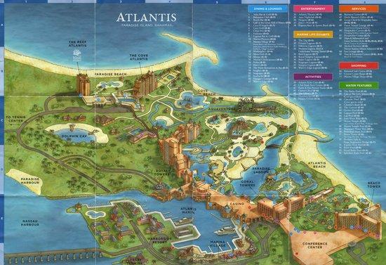 Map Paradise Island Banamas