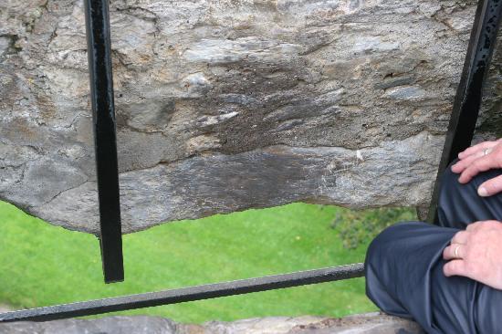 Blarney Castle & Rock: Blarney stone is the bottom part!