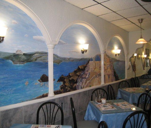Skorpios Restaurant Scenic Wall Mural At Skorpios