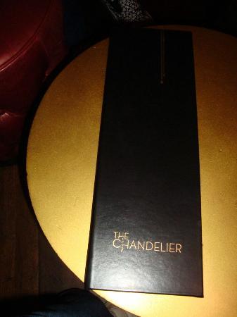 The Chandelier Bar Menu
