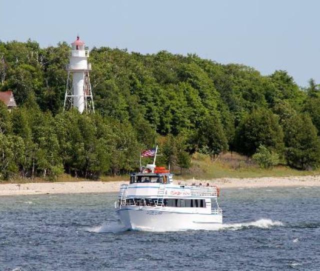 Door County Wi Scenic Cruise To Washington Island Through The Deaths Door Water Passage