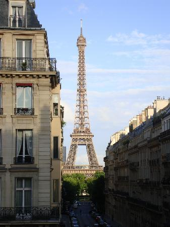 View Of The Eiffel Tower From The Love Seat In The Living
